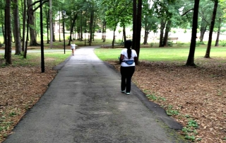 Mimi Walking in Park