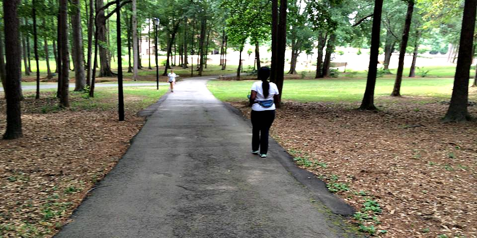 Mimi Walking in Park
