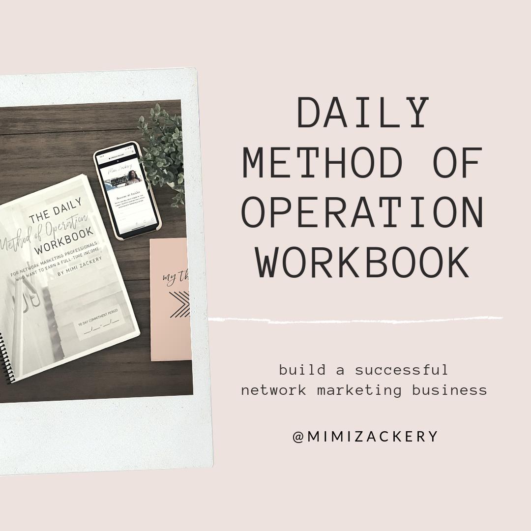 daily method of operation workbook | Mimi Zackery